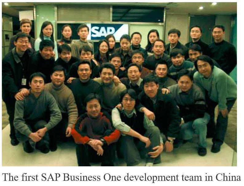 Đội phát triển SAP Business One đầu tiên tại Trung Quốc