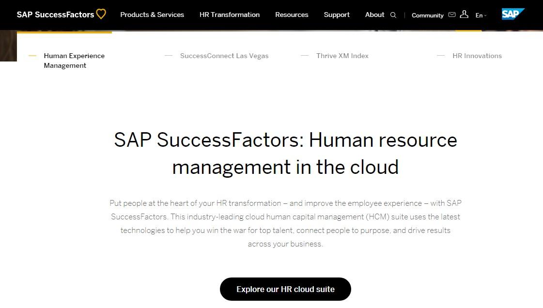 Sap success factors cloud